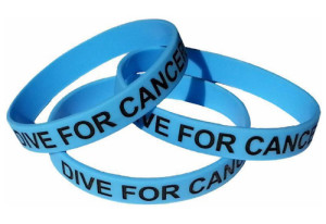 Dive For Cancer wrist band