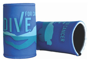 Dive For Cancer stubbie holder