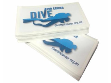 Dive For Cancer stickers