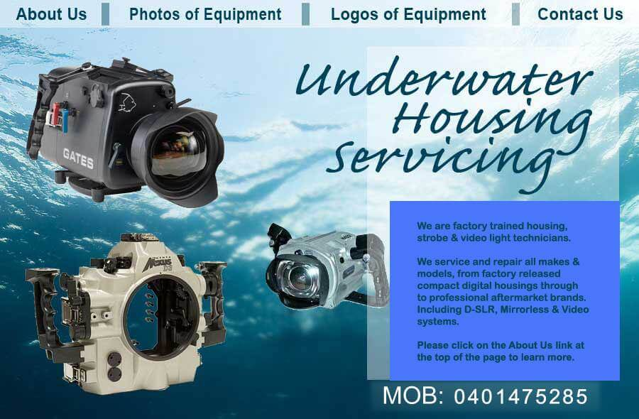 Underwater Housing Servicing